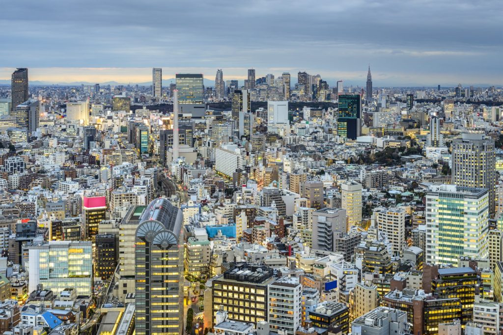 Cityscape of Tokyo Japan