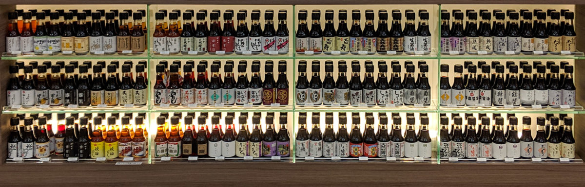 80 Choices of Soy Sauce in Ginza